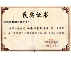 和平茶业-2005中茶杯特等奖